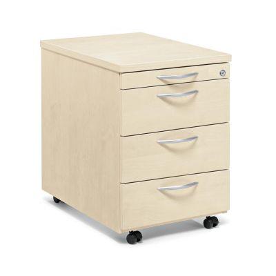 Rollcontainer Creaform M, drei Schubladen und Utensilienfach