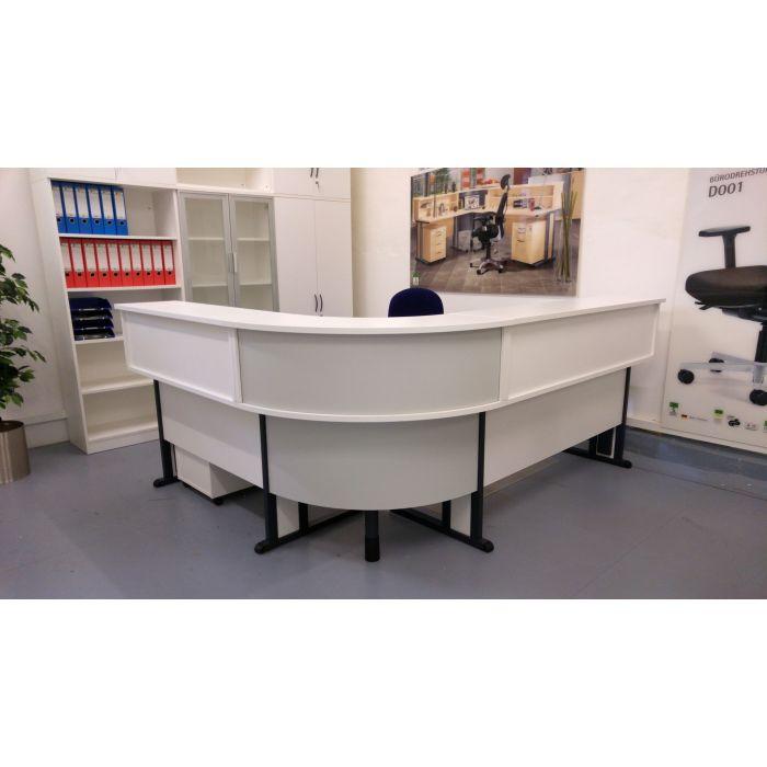 Winkelkombination Ahorn Schreibtisch Schreibtische Empfangstheke Theke Tresen