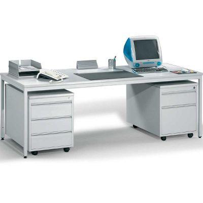 Schreibtisch mit 2 Rollcontainern