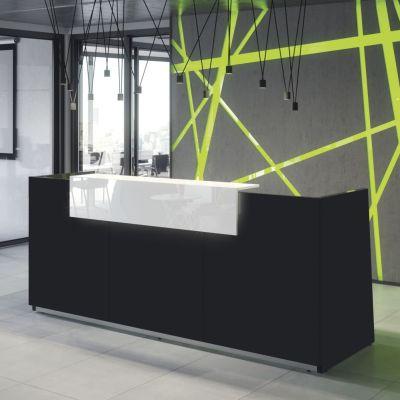 Empfangstheke Design Weiß
