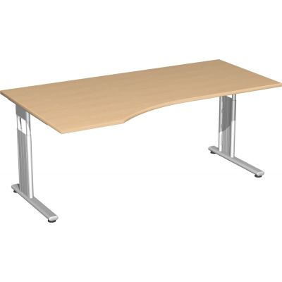 Schreibtisch C Fuß Flex, PC-Form