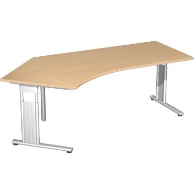Schreibtisch C Fuß Flex, 135° abgewinkelt