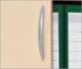 Ergonomische Griffe aus Metall, Zylinderschloss mit 2 Schlüsseln