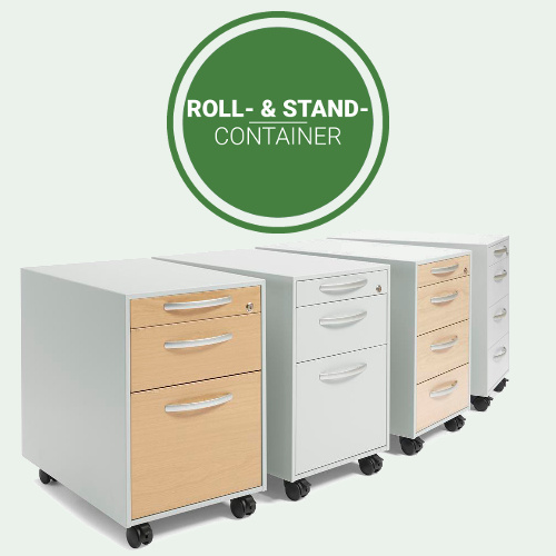 Rollcontainer und Standcontainer